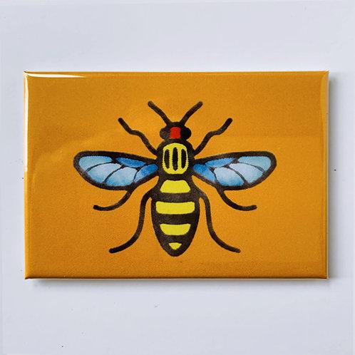 Manchester Bee Fridge Magnet