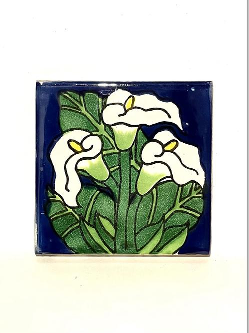 Mexican Tile Coaster Lilium