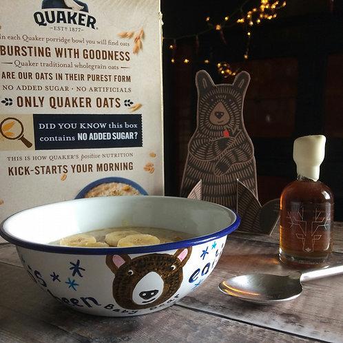 'Who's been eating my Porridge?' enamel bowl