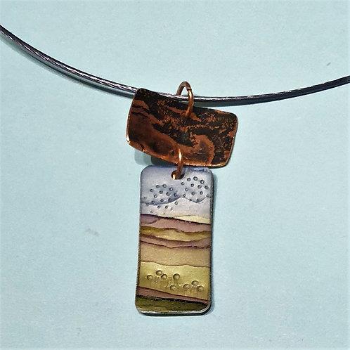 Copper Landscape Necklace