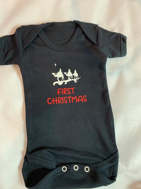 Baby's Bodysuit Black 3 Wise men