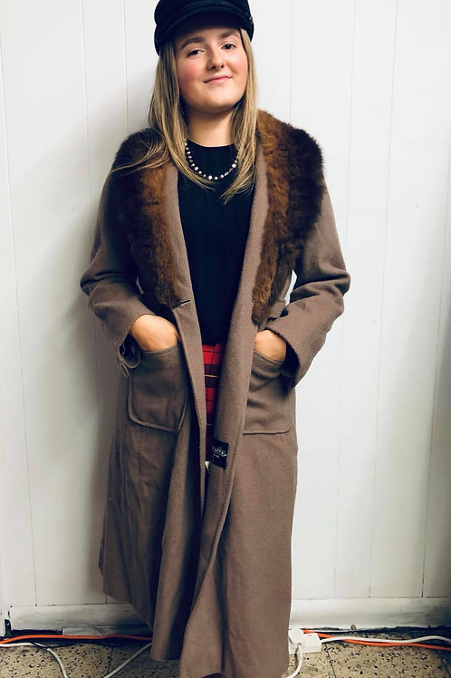 Wool and Faux Fur Winter Coat