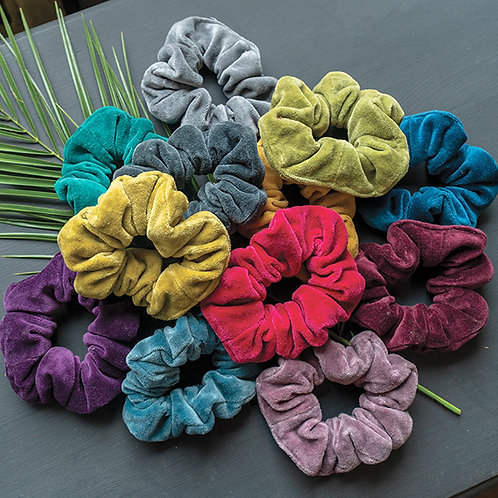 Cotton Velvet Cut Off Scrunchies