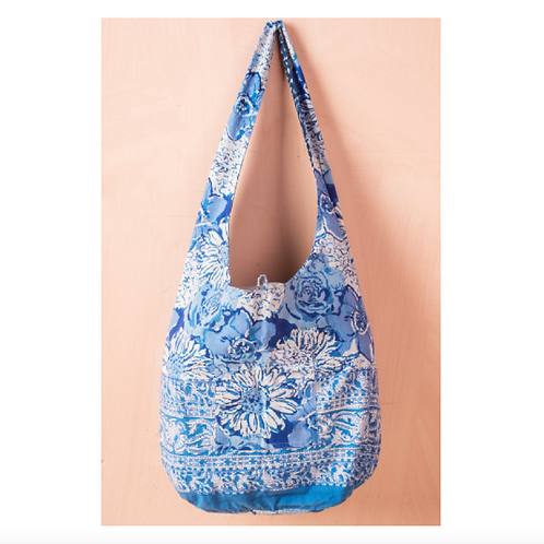 Printed Cotton Flower Reversible Bag