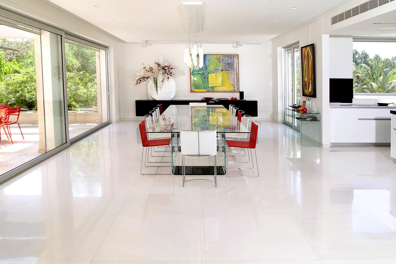Sivach white marble flooring