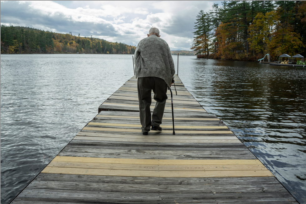 Dad on the Dock