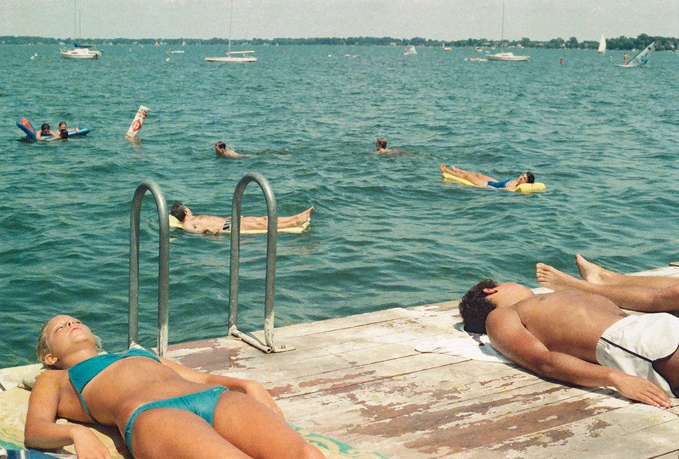 Swimming Dock & Bathers © 1983