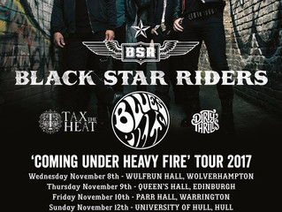 """Black Star Riders:                          """"COMING UNDER HEAVY FIRE"""" TOURNOVEMBER 2017"""