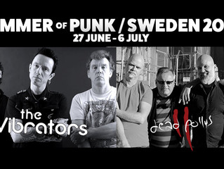 "Dead Pollys present ""Summer of Punk  Sweden 2019"" Tour with The Vibrators!"