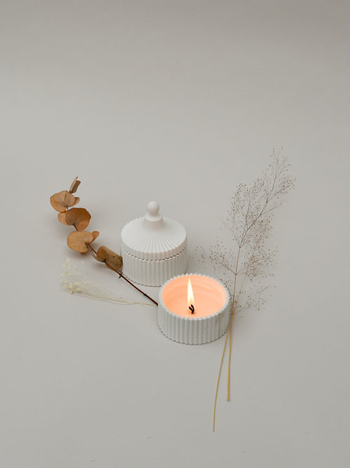 Geo Candle and Lid