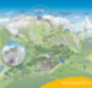 Mapa Gornergrat, Suiza