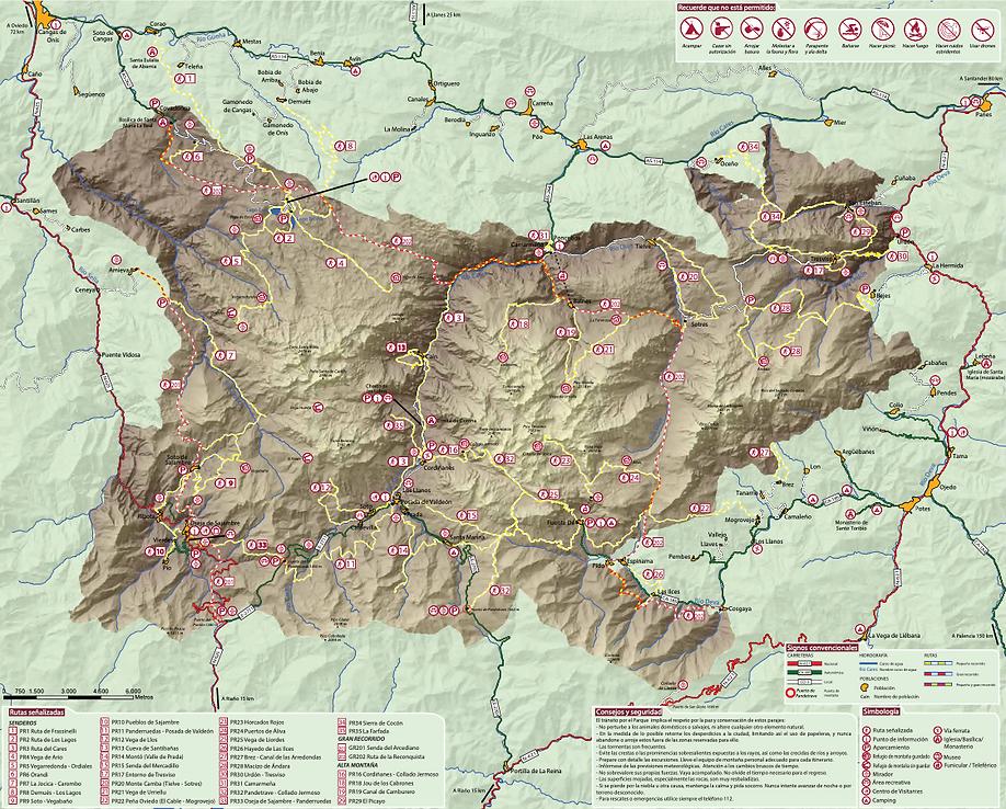 Mapa Parque Nacional Picos de Europa