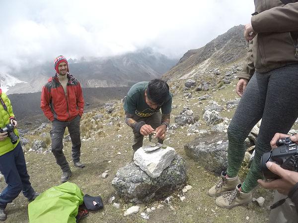 Ritual a la Pacha Mama, Salkantay Trek