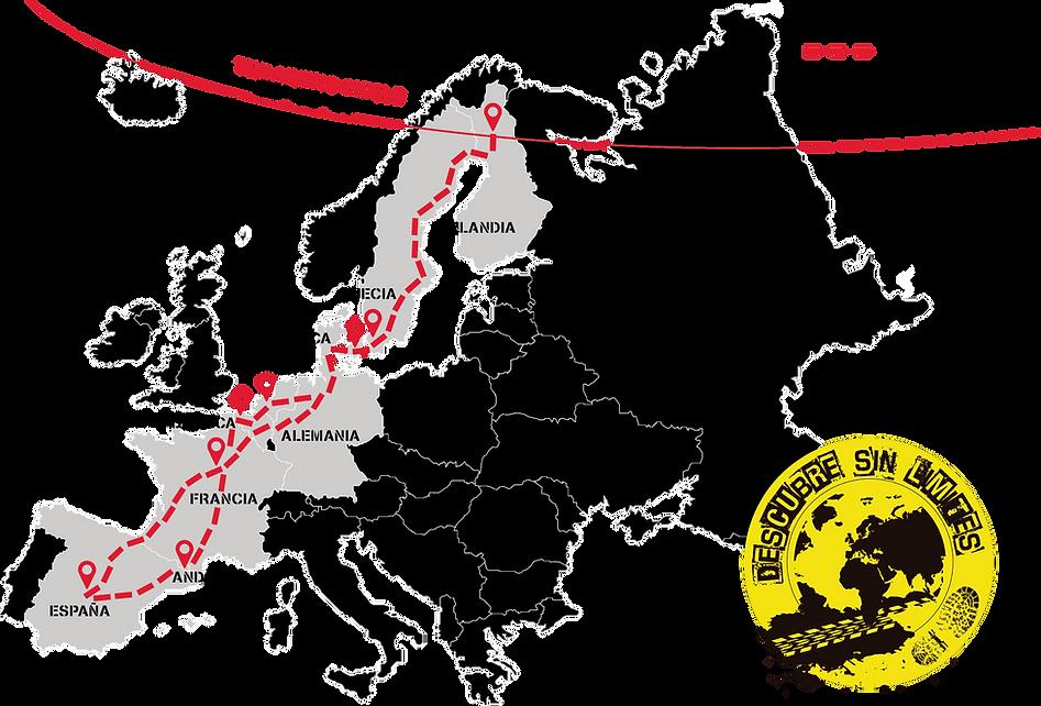 Mapa Road Trip España - Circulo Polar Ártico