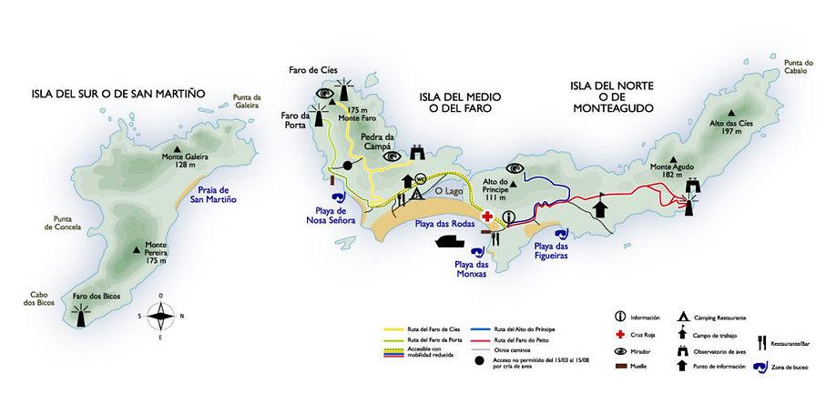 Mapa Islas Cies