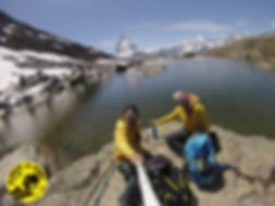 Lago Rifelsee, Alpes Suiza