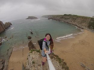Playa La Arnia, Costa Quebrada