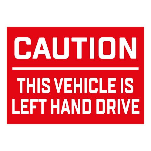 PEGATINA LEFT HAND DRIVE
