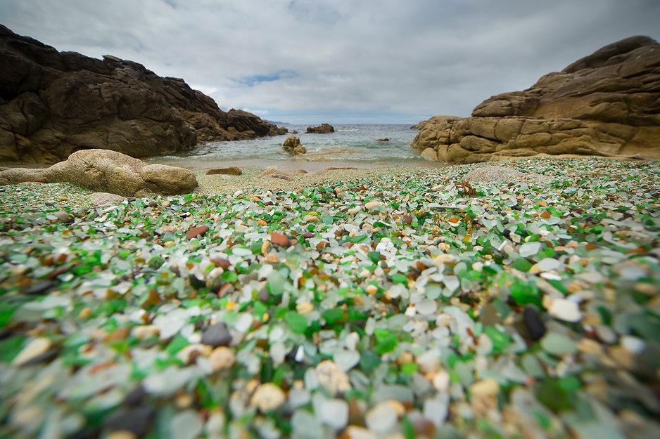 Playa de cristales de Laxe