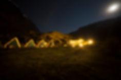 Nocturna en el campamento 1, Salkantay Trek