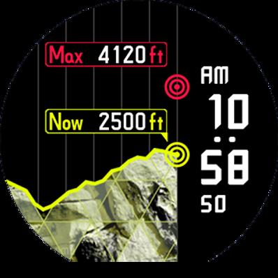 Pro Trek WSD-F20, altitud