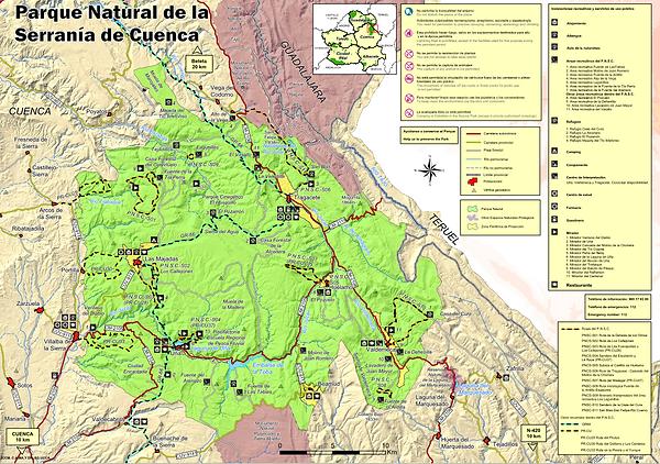 Mapa Parque Natural Serranía Cuenca
