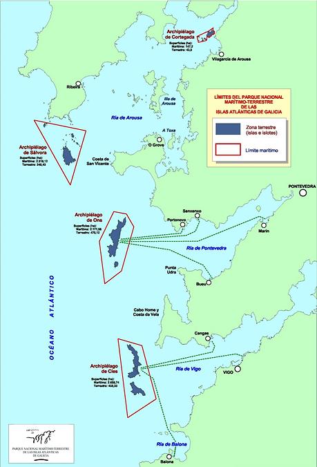 Mapa Islas Atlánticas