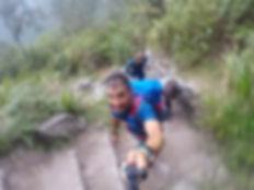 Subiendo a Machu Picchu, Perú