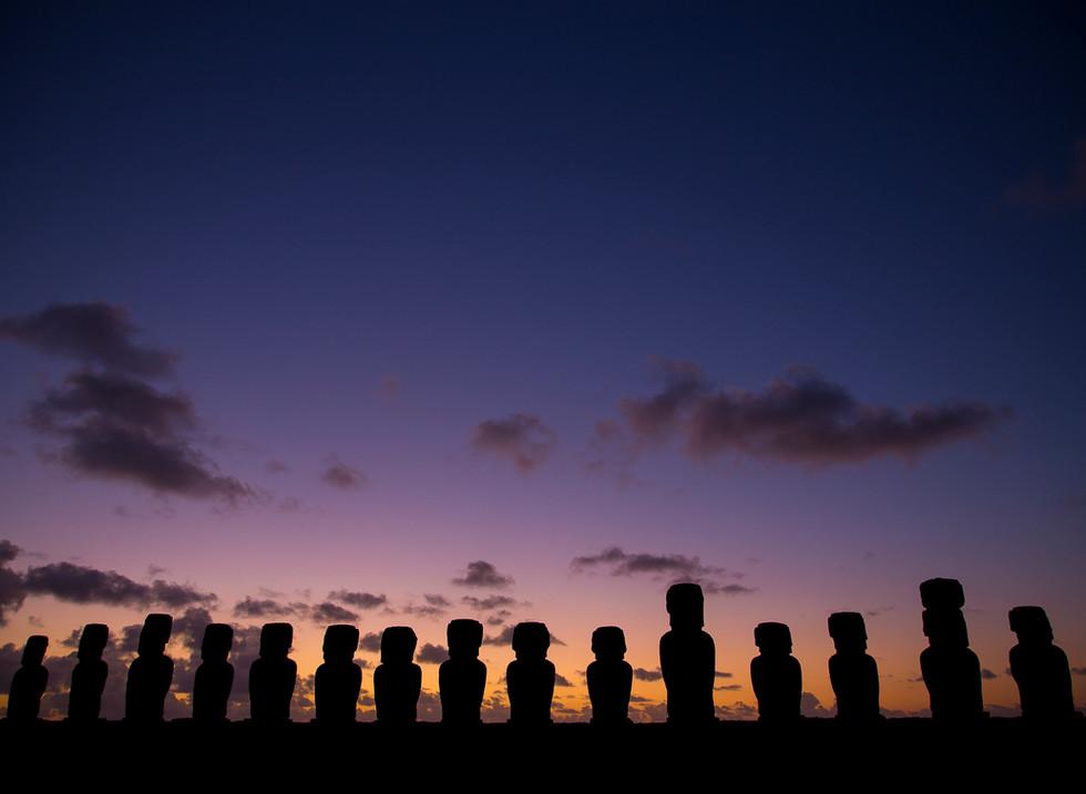 Ahu Tongariki, Parque Nacional Rapa Nui. Isla de Pascua