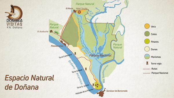 Mapa Parque Nacional de Doñana
