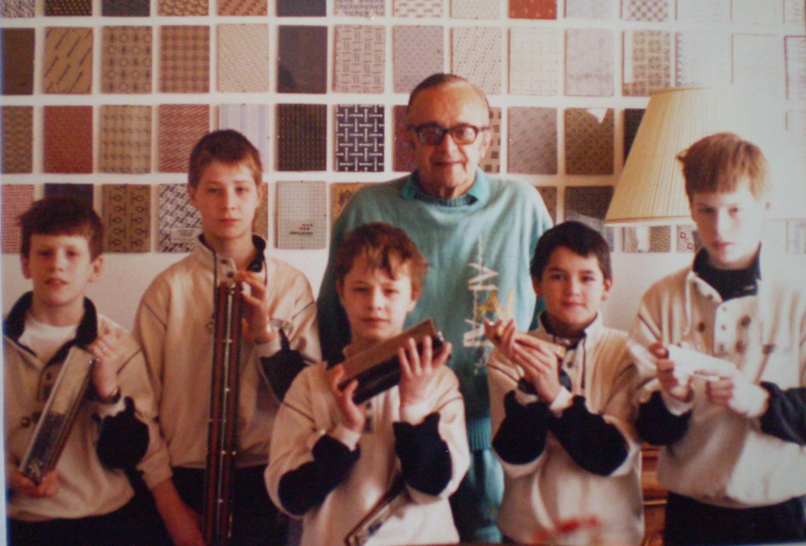 Meeting Larry Adler 1989