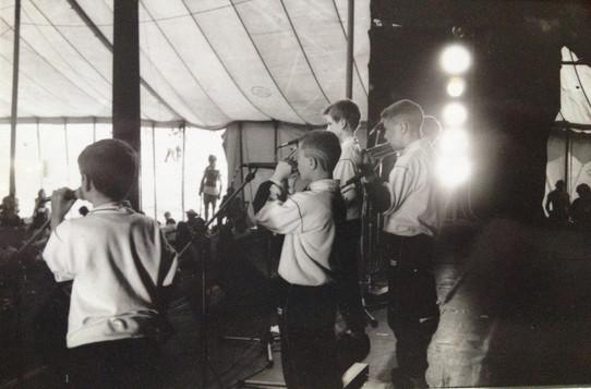 with Random Sound at Glastonbury 1989