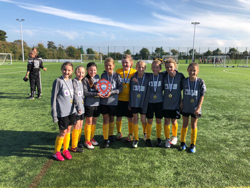 Year 5/6 girls' football team Southend Primary School Sports Association Girls' Football Com