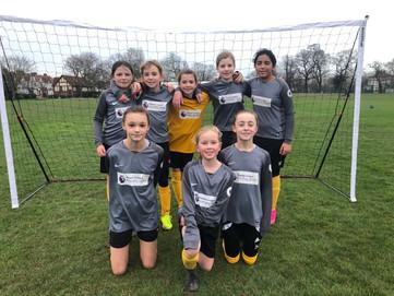 West Leigh girls' football team play Chalkwell Park