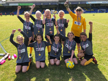 Year 5/6 Girls' Football tournament at Roots Hall