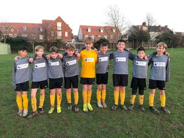 Yr 5/6 Boys football team play Our Lady of Lourdes