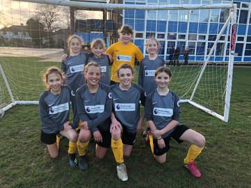 Yr5/6 Girls football match V Our Lady Of Lourdes