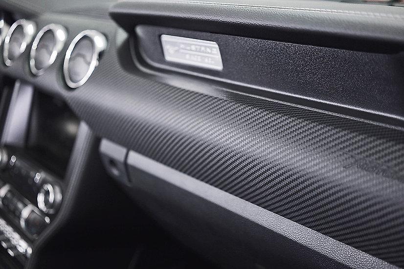 Armaturenblende LEDER für Mustang GT V8/Ecoboost/Coupe/Convertible