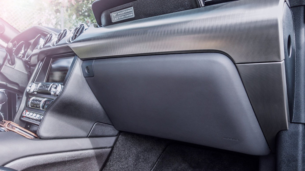 Handschuhfach-Deckel LEDER für Mustang GT V8/Ecoboost/Coupe/Convertible
