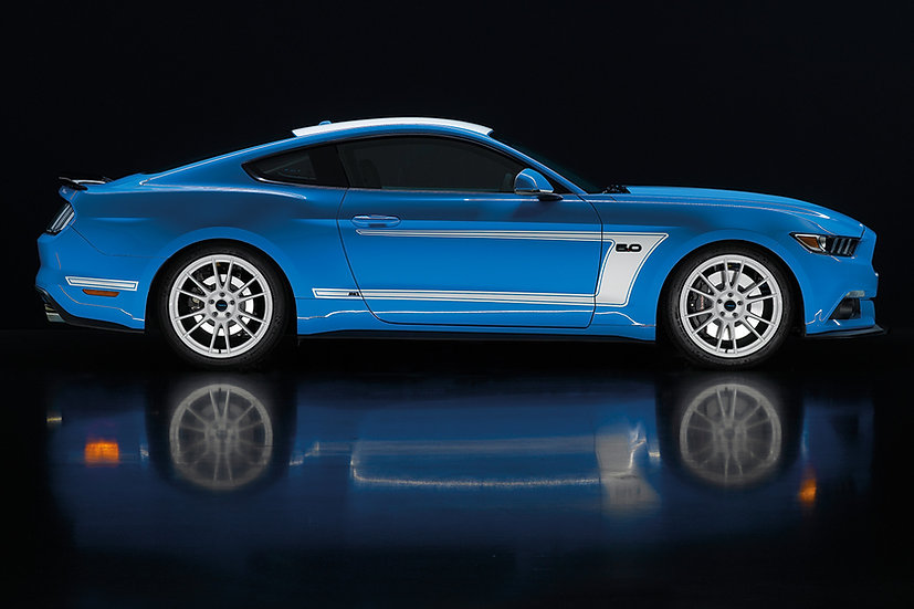 Set Dekorstreifen AM2 für Mustang GT V8/Ecoboost Coupe/Convertible