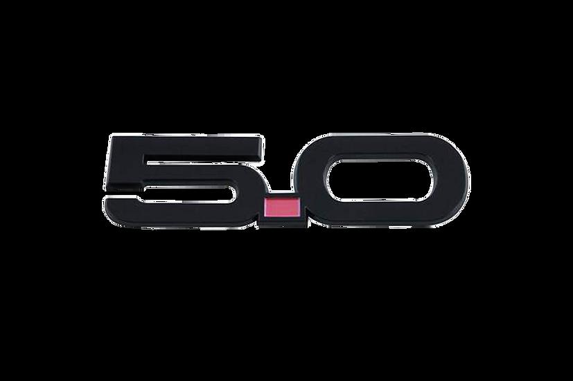 5.0 Kotflügel-Emblem für Mustang GT V8/Ecoboost Coupe/Convertible