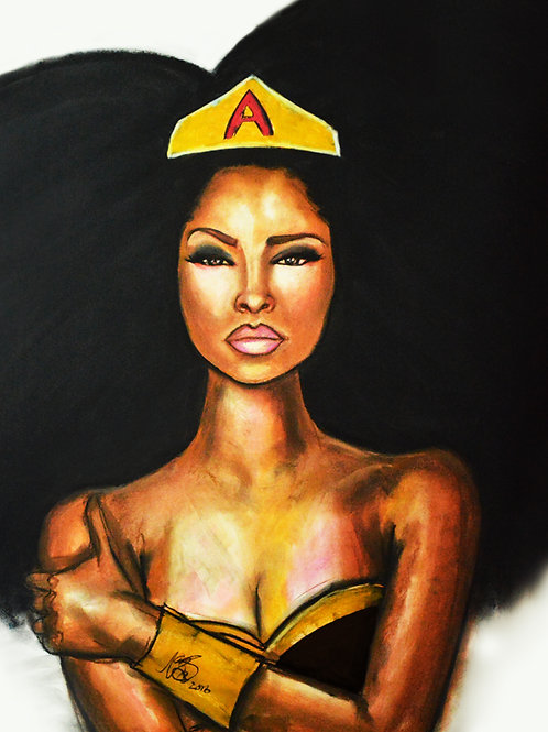 Afro Super Woman