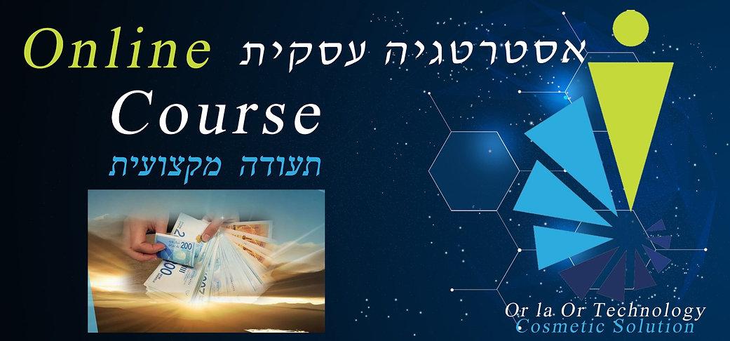 קורס אסטרטגיה -פרומו- אור לעור טכנולוגיו