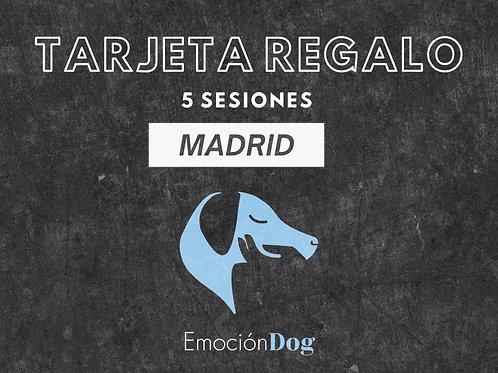 TARJETA REGALO 5 SESION PRESENCIAL MADRID