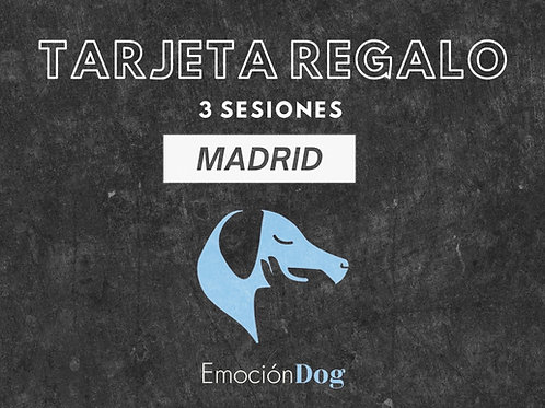 TARJETA REGALO 3 SESION PRESENCIAL MADRID