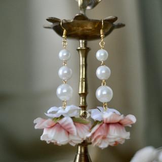 cascading pearl drop earrings