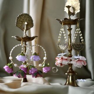 rain drop hoops & antique gold + pearl drop earrings