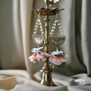 antique gold + pearl drop earrings