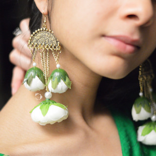 antique gold + ivory droplet earrings