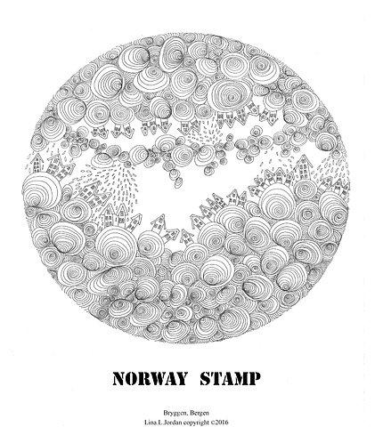 """World cultural heritage -- Bryggen in Bergen""poster"